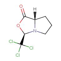 (3R,7aS)-3-(trichloromethyl)-hexahydropyrrolo[1,2-c][1,3]oxazol-1-one
