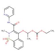 4-(1-(ethoxycarbonyloxy)ethoxy)-2-methyl-n-(2-pyridyl)-2h-1,2-benzothiazine-3-carboxamide-1,1-dioxide